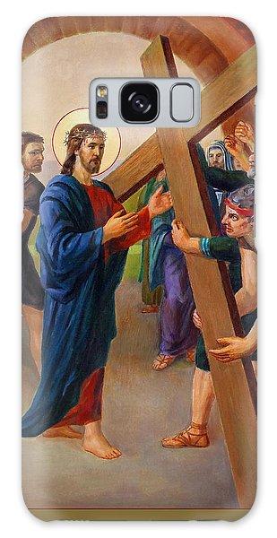 Via Dolorosa - Jesus Takes Up His Cross - 2 Galaxy Case by Svitozar Nenyuk