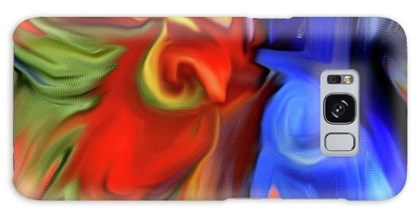 Vibrant Abstract Color Strokes Galaxy Case