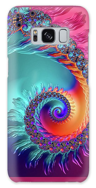 Vibrant And Colorful Fractal Spiral  Galaxy Case