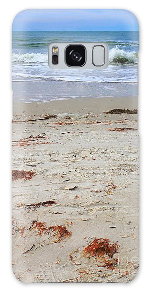 Vibrant Beach With Wave Galaxy Case by Jeanne Forsythe