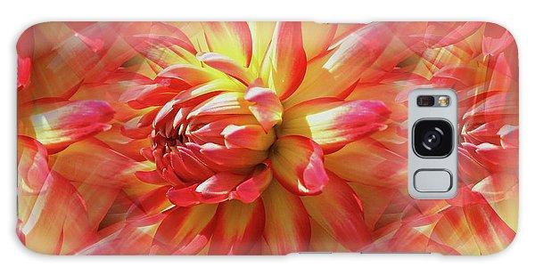 Vibrant Dahlia Petals Galaxy Case