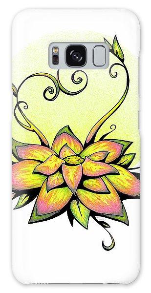 Vibrant Flower 8 Galaxy Case