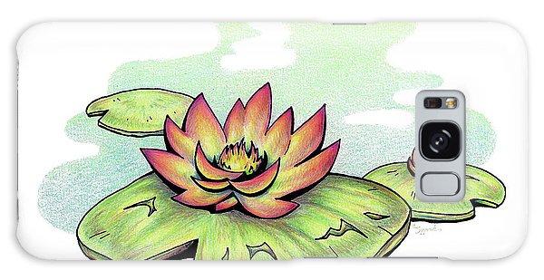 Vibrant Flower 2 Water Lily Galaxy Case