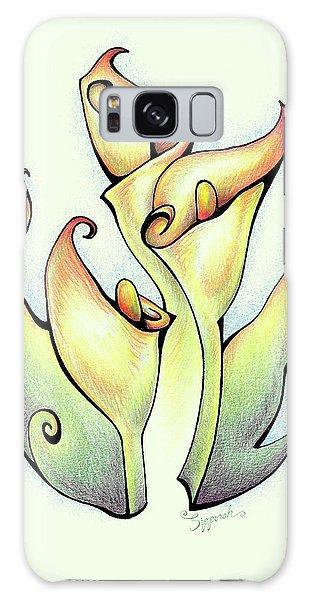 Vibrant Flower 3 Arum Lily Galaxy Case