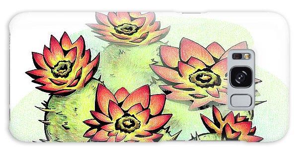 Vibrant Flower 6 Cactus Galaxy Case