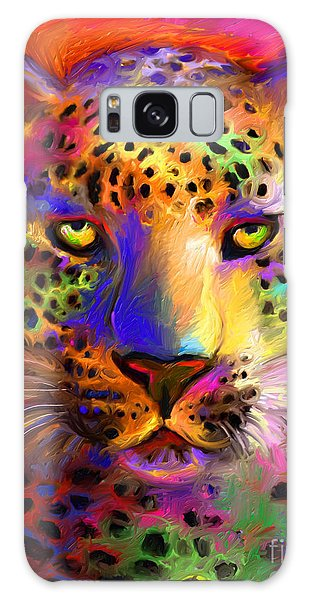 Vibrant Leopard Painting Galaxy Case
