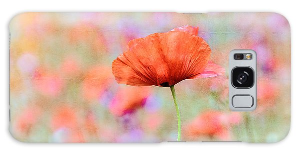 Vibrant Poppies In A Field Galaxy Case