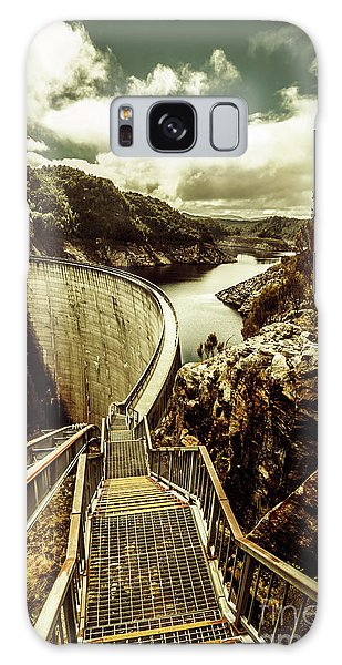 No People Galaxy Case - Vibrant River Dam by Jorgo Photography - Wall Art Gallery