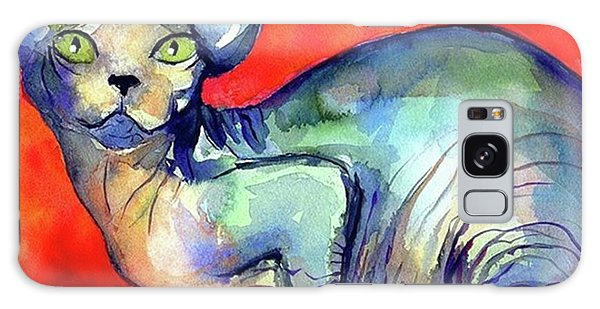 Vibrant Watercolor Sphynx Painting By Galaxy Case