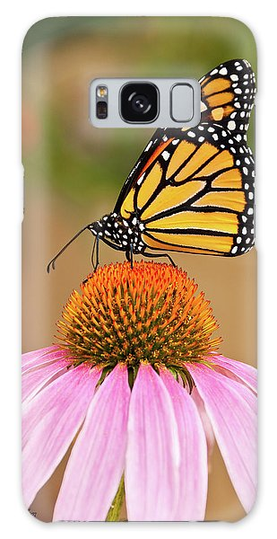 Monarch Butterfly On A Purple Coneflower Galaxy Case