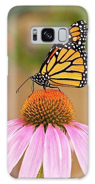 Monarch Butterfly On A Purple Coneflower Galaxy Case