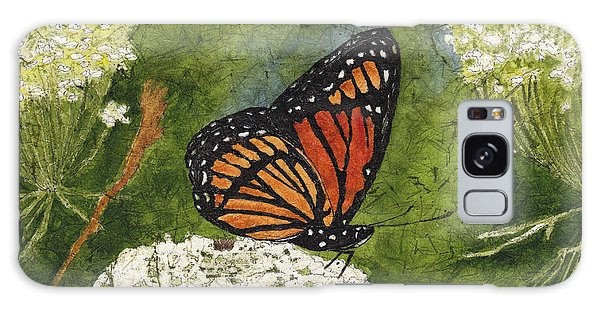 Viceroy Butterfly On Queen Anne's Lace Watercolor Batik Galaxy Case