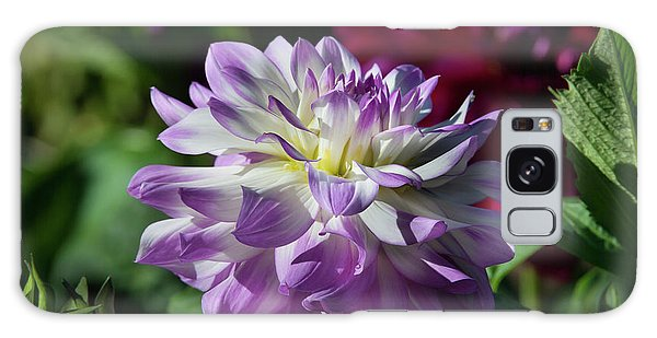 Victoria Ann Dahlia Galaxy Case by Glenn Franco Simmons
