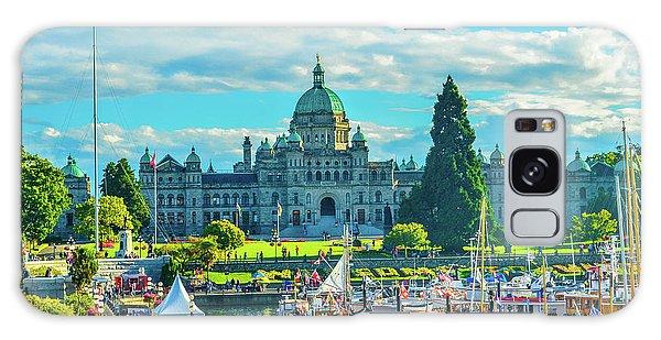 Victoria Bc Parliament Harbor Galaxy Case