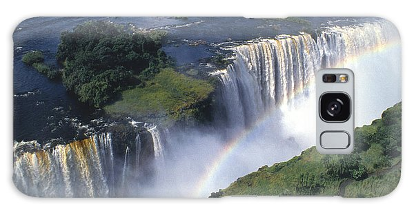 Victoria Falls Rainbow Galaxy Case by Sandra Bronstein