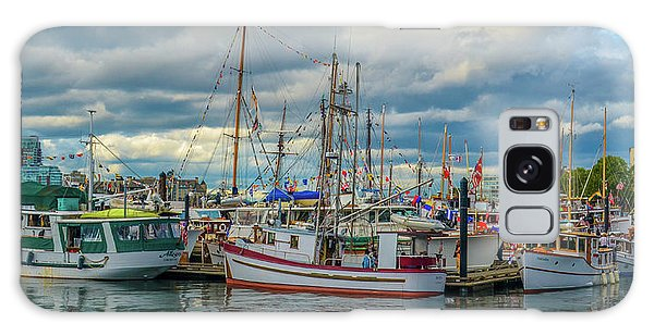 Victoria Harbor Boats Galaxy Case