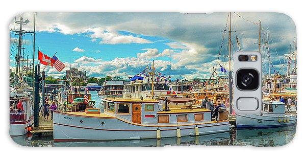 Victoria Harbor Old Boats Galaxy Case