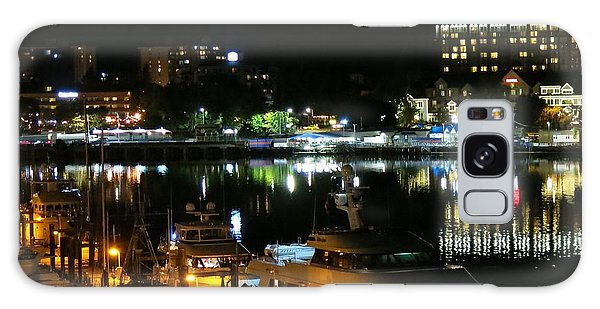 Victoria Inner Harbor At Night Galaxy Case