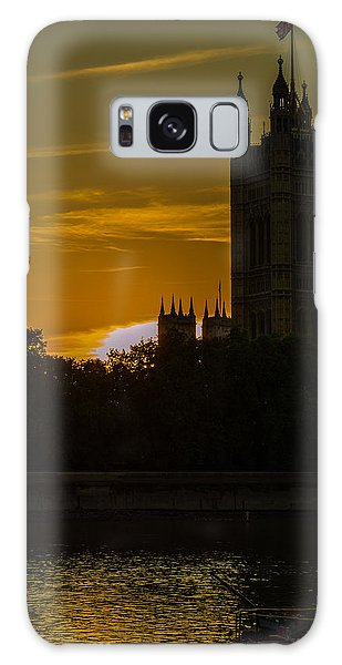 Victoria Tower In London Golden Hour Galaxy Case
