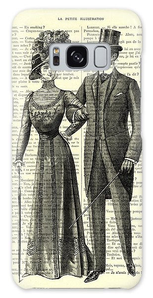 Lady Galaxy Case - Victorian Couple by Madame Memento
