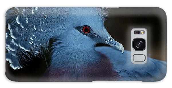 Victorian Crowned Pigeon Galaxy Case