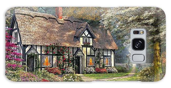 Cottage Galaxy Case - Victorian Garden Home by Dominic Davison