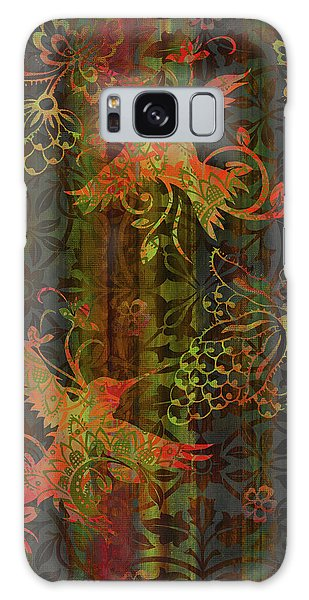 Tapestry Galaxy Case - Victorian Humming Bird 3 by JQ Licensing