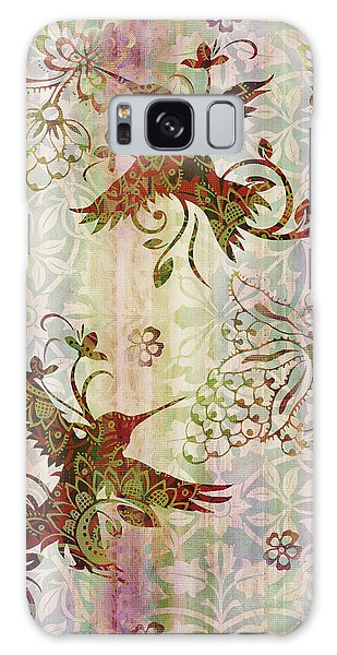 Tapestry Galaxy Case - Victorian Humming Bird Pink by JQ Licensing