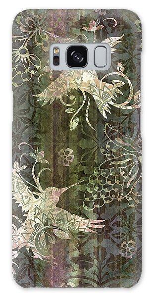 Hummingbird Galaxy S8 Case - Victorian Hummingbird Green by JQ Licensing