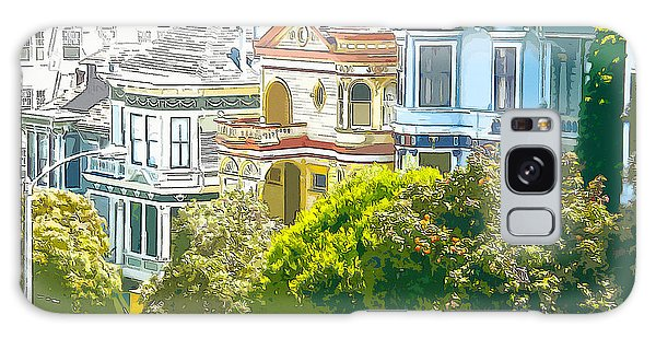 Victorian Painted Ladies Houses In San Francisco California Galaxy Case