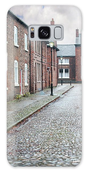 Victorian Terraced Street Of Working Class Red Brick Houses Galaxy Case