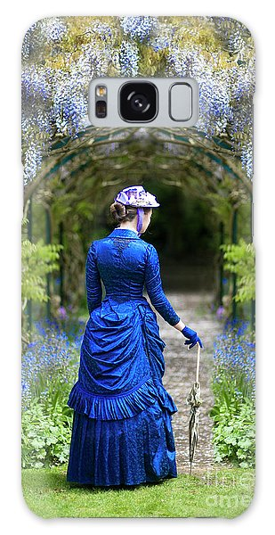 Victorian Woman With Wisteria Galaxy Case