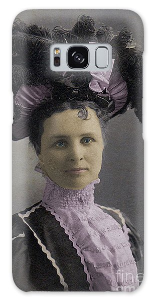 Victorian Women With Big Hat Galaxy Case by Lyric Lucas