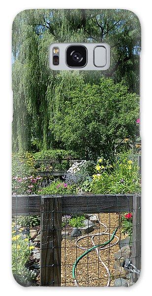 Victory Garden Lot And Willow Tree, Boston, Massachusetts  -30958 Galaxy Case