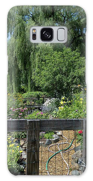 Victory Garden Lot And Willow Tree, Boston, Massachusetts  -30958 Galaxy Case