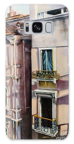 View From A Venetian Window Galaxy Case