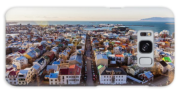 View From Hallgrimskirka Galaxy Case by Wade Courtney