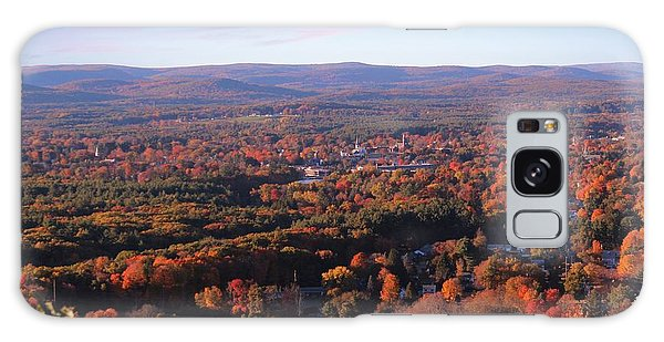View From Mount Tom In Easthampton, Ma Galaxy Case