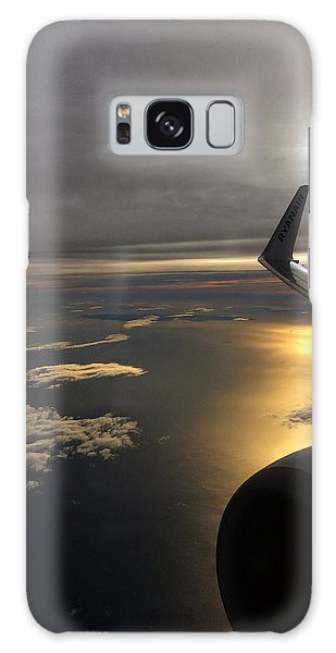View From Plane  Galaxy Case
