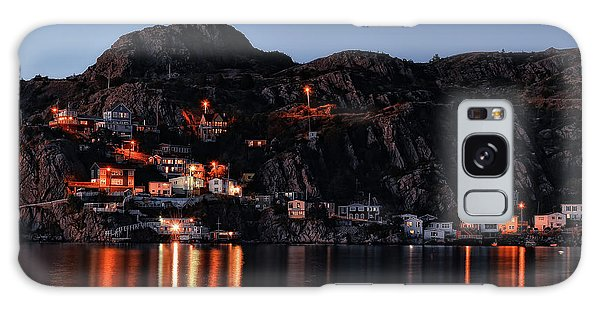 View From The Harbor St Johns Newfoundland Canada At Dusk Galaxy Case