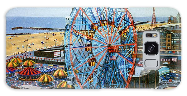 View From The Top Of The Cyclone Rollercoaster Galaxy Case by Bonnie Siracusa