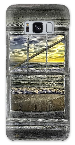 View From Weathered Beach Cottage Galaxy Case