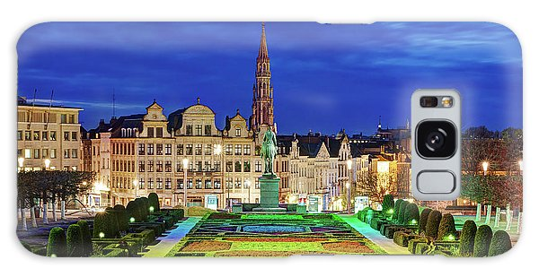 Galaxy Case featuring the photograph View Of Brussels From Jardin Du Mont Des Arts by Barry O Carroll