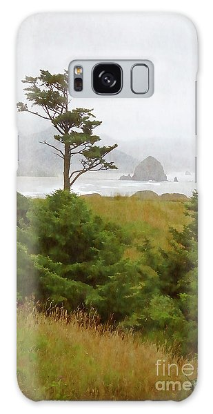 View Of Cannon Beach In The Fog Galaxy Case