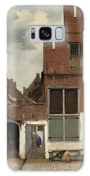 Jan Vermeer Galaxy Case - View Of Houses In Delft, Known As The Little Street by Jan Vermeer