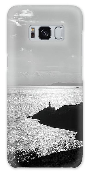 View Of Howth Head With The Baily Lighthouse In Black And White Galaxy Case by Semmick Photo