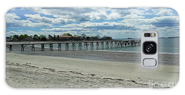 View Of Pier. Fisherman's Beach, Swampscott, Ma Galaxy Case