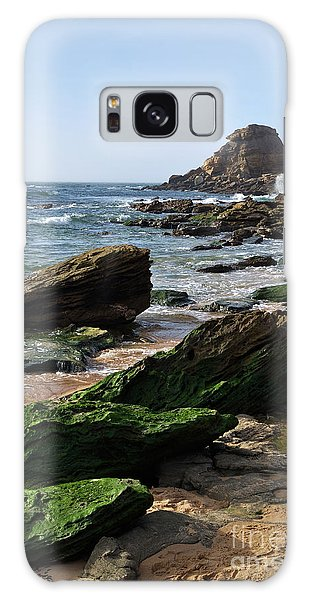 View Of Santa Rita Beach In Torres Vedras Galaxy Case