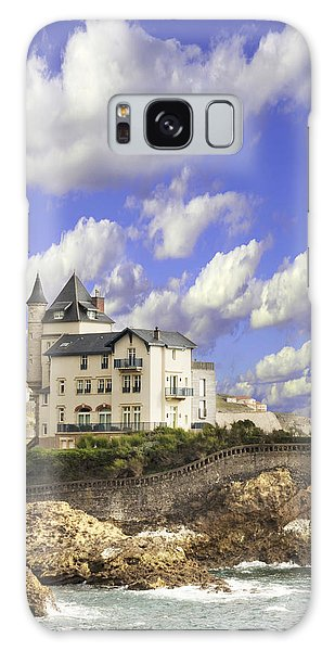 View Of The Beautiful Castle On The Bay Of Biscay Of The Atlantic Ocean Galaxy Case