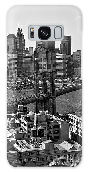 View Of The Brooklyn Bridge Galaxy Case by Madeline Ellis